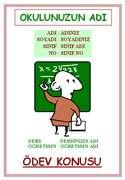 Matematik ödev kapaklari